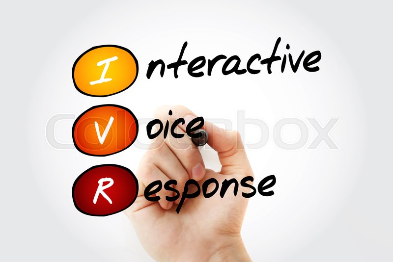 IVR - Interactive Voice Response acronym, business concept with marker, stock photo