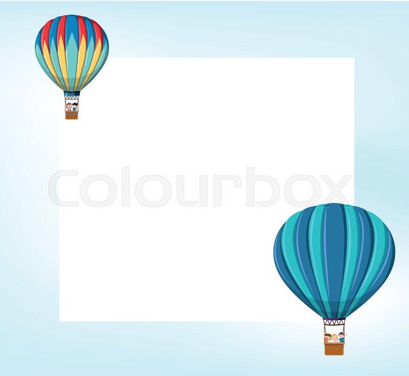 Hot air balloon template illustration | Stock vector | Colourbox