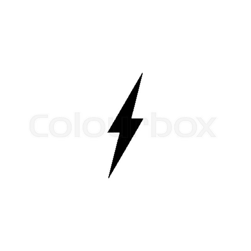 simple black thunder icon thunderbolt stock vector colourbox simple black thunder icon thunderbolt