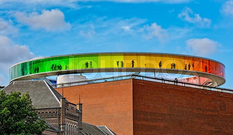 Regnbuen på kunstmuseet aros tag | Stock foto | Colourbox