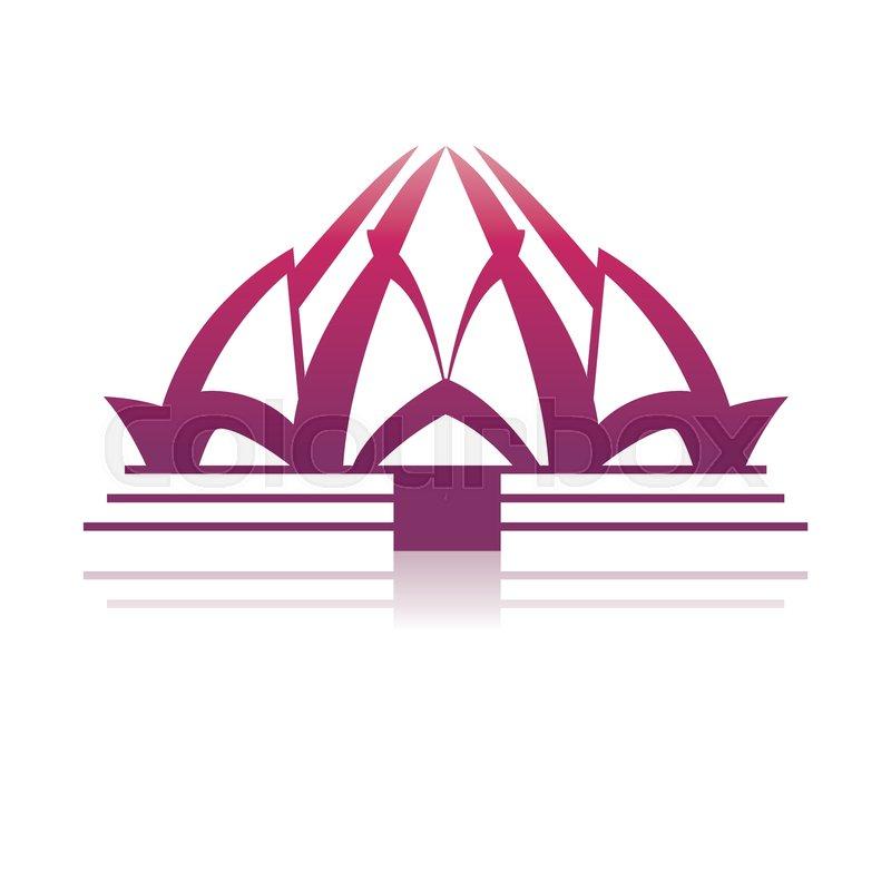 Lotus temple architecture icon vector illustration graphic design, vector