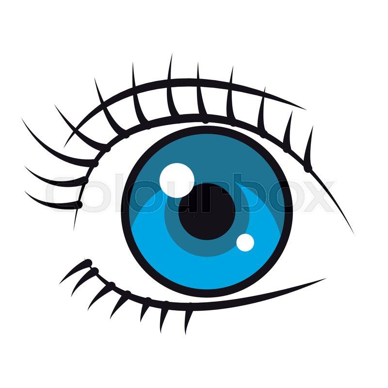 Woman Eye Cartoon Vector Illustration Stock Vector Colourbox