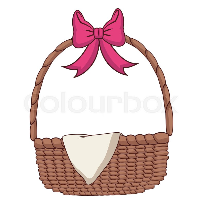 Empty Picnic Basket Cartoon Vector Stock Vector Colourbox