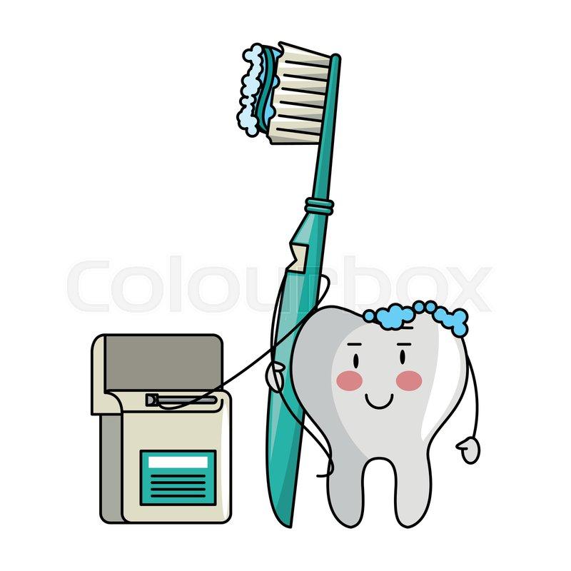 6c2742875 Cartoon dental care tooth holding ...