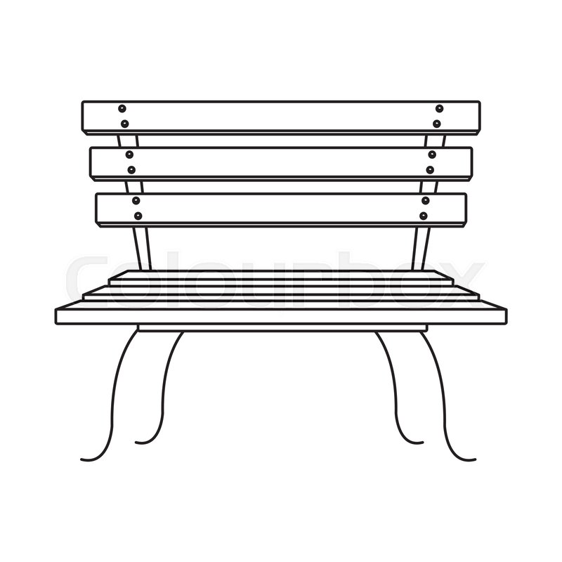 Awesome Park Bench Cartoon Vector Illustration Stock Vector Squirreltailoven Fun Painted Chair Ideas Images Squirreltailovenorg