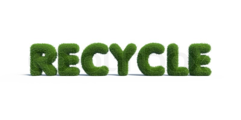 Recycle Symbol Grass On Isolated Background Stock Photo Colourbox