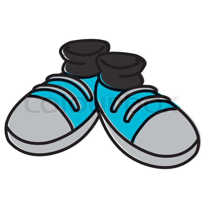 Pair Of Shoes Cartoon Icon Vector Stock Vector Colourbox