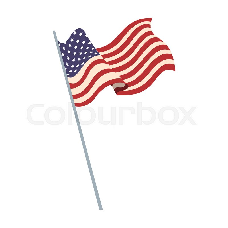 United states of america flag waving     | Stock vector
