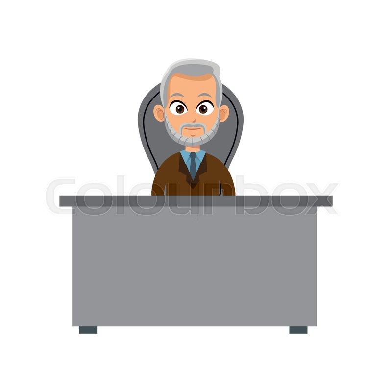Stupendous Character Doctor Sitting Desk And Stock Vector Colourbox Creativecarmelina Interior Chair Design Creativecarmelinacom