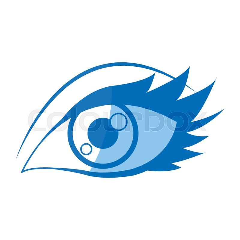 Cartoon Eye Human Look Watch Icon Stock Vector Colourbox