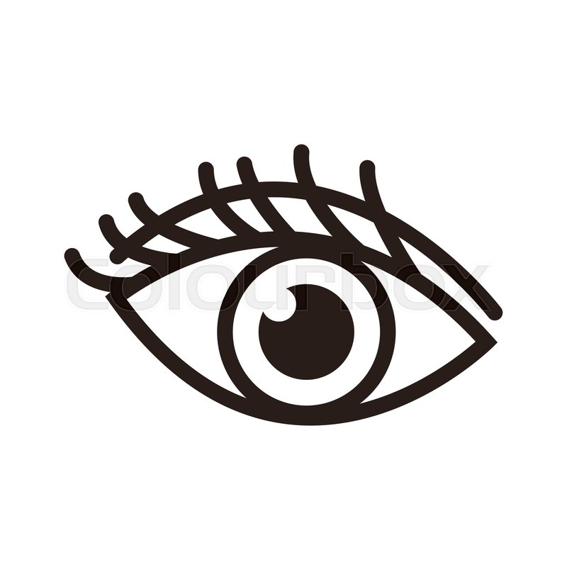 Cartoon Eye Human Vision Look Watch Stock Vector Colourbox