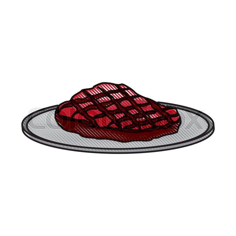 cartoon beef steak fillet fresh food stock vector colourbox cartoon beef steak fillet fresh food