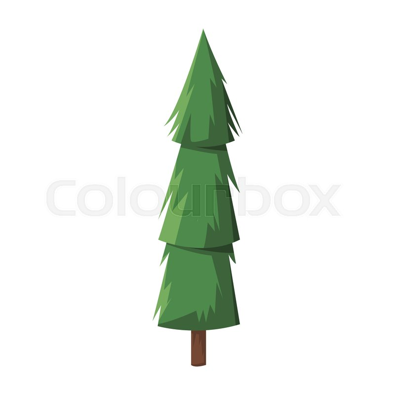 Cartoon Pine Tree Trunk Nature Icon Stock Vector Colourbox Share the best gifs now >>>. cartoon pine tree trunk nature icon