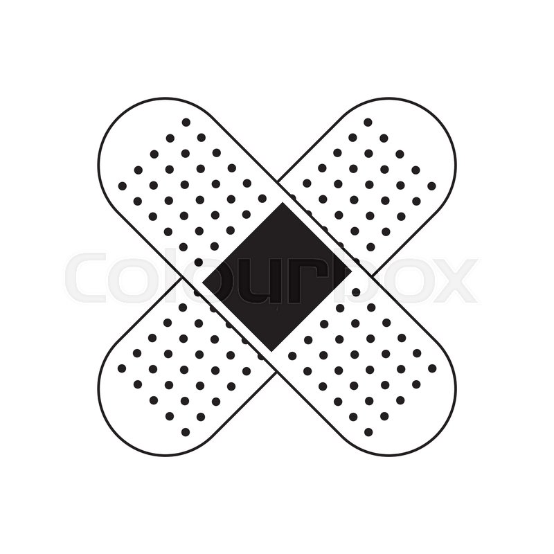 Plaster cure band health care symbol       Stock vector