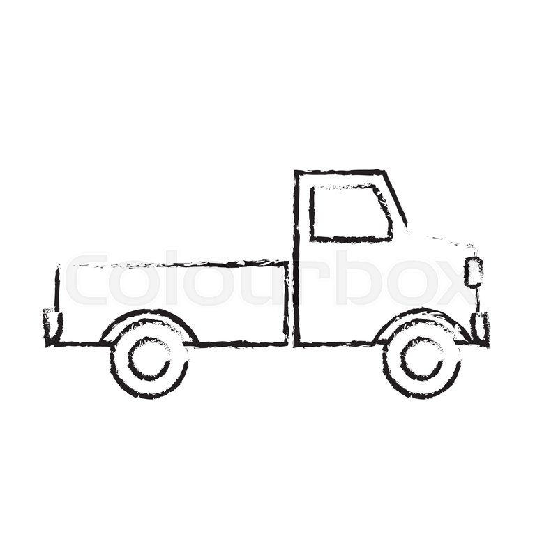 Pickup Truck Delivery Icon Sign Modern Stock Vector