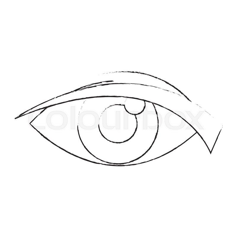 Eye Look Watch Cartoon Icon Vector Stock Vector Colourbox