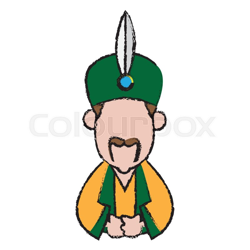 Cartoon Wise King Man Of Orient Stock Vector Colourbox 10 years later japan is still a dependent. colourbox