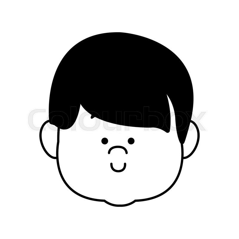 Cartoon Profile Boy Little Avatar Stock Vector Colourbox