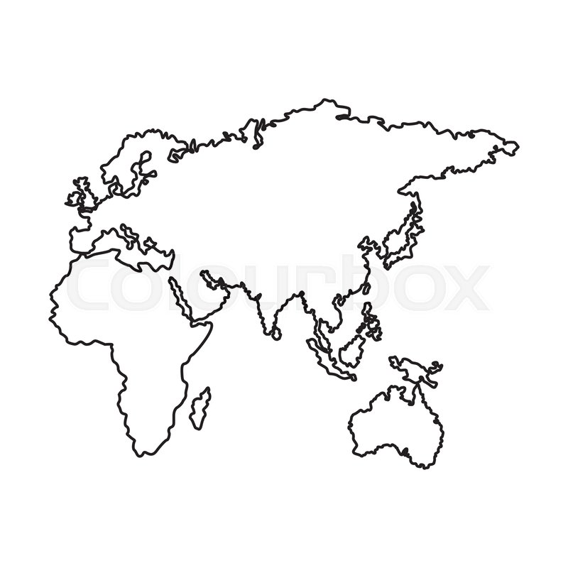 Map Of Europe Africa And Asia Country Stock Vector Colourbox