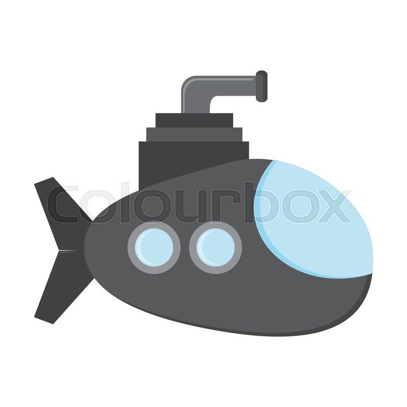 Flat design small submarine icon     | Stock vector | Colourbox