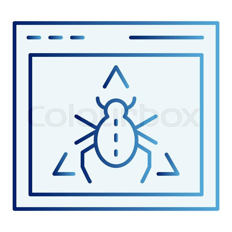 Window bug flat icon  Website virus     | Stock vector | Colourbox