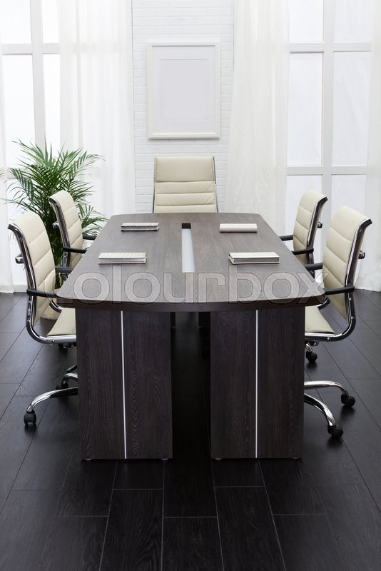 Conference table in a modern office, stock photo