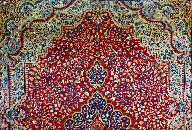Oriental Indian Carpet Texture Stock Photo Colourbox