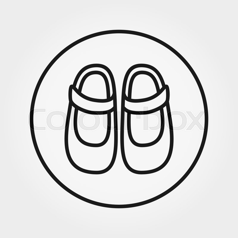 Baby Shoes Universal Icon For Web And Stock Vector Colourbox