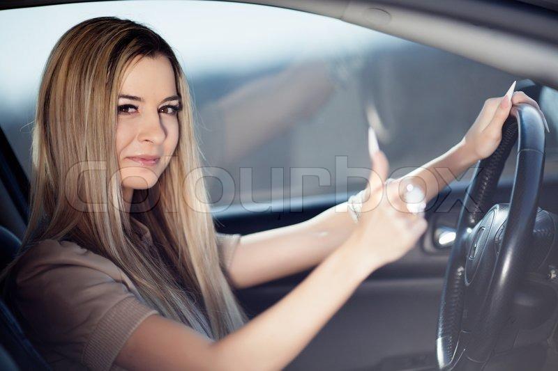 beautiful girl in car - photo #15