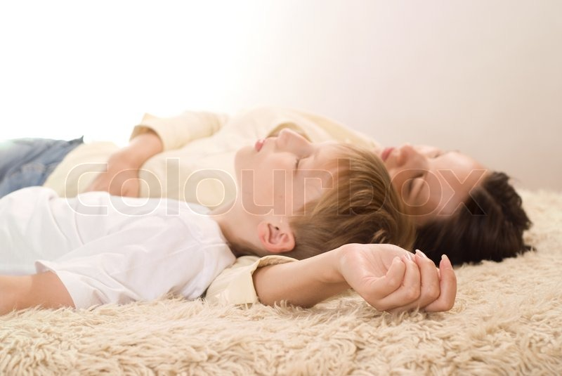 Stock image of 'Mom and son'