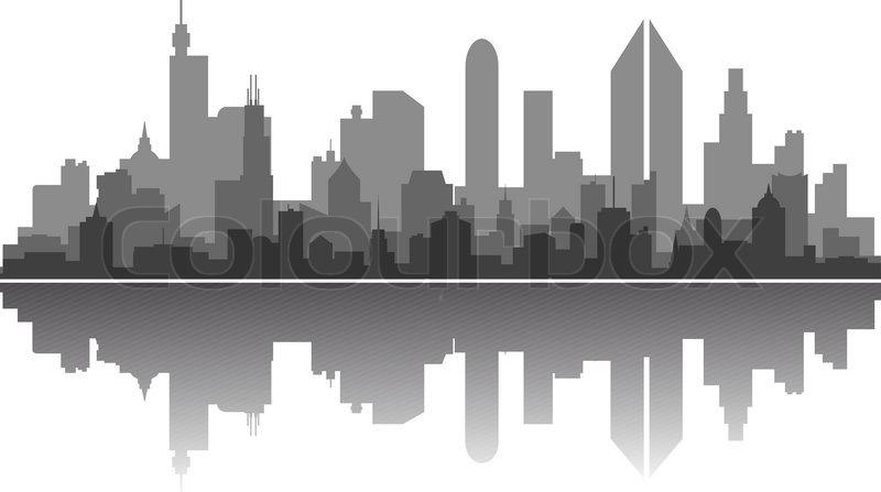 city skyline stock vector colourbox rh colourbox com skyline city vector city skyline vector png