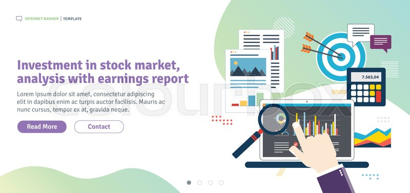 Investment in stock market, analysis     | Stock vector | Colourbox