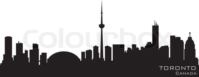 Stock vector of 'Toronto Canada skyline Detailed vector silhouette'