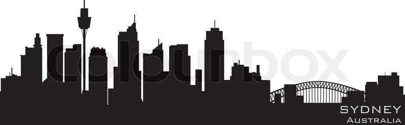 Sydney Australia Skyline Detailed Vector Silhouette