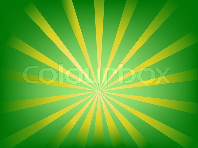 abstract background illustration with brown and green sun burst or rays