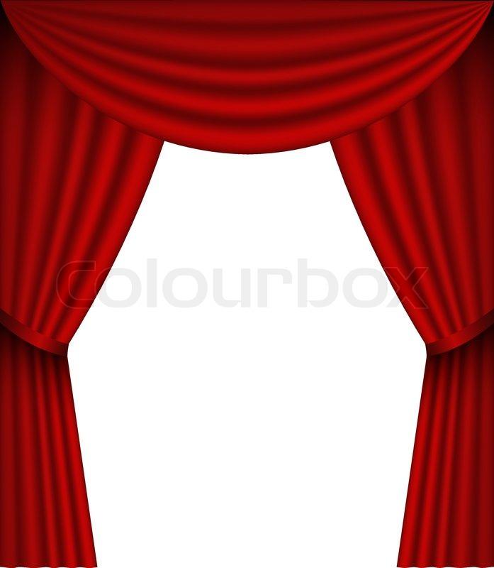 Vector Curtain Stock Vector Colourbox