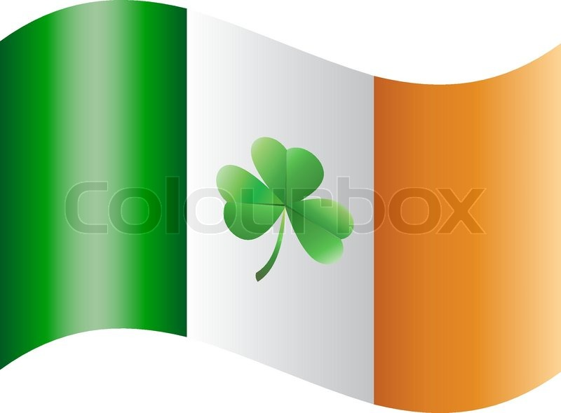 Flag of ireland with shamrock stock vector colourbox for Irish mail cart plans