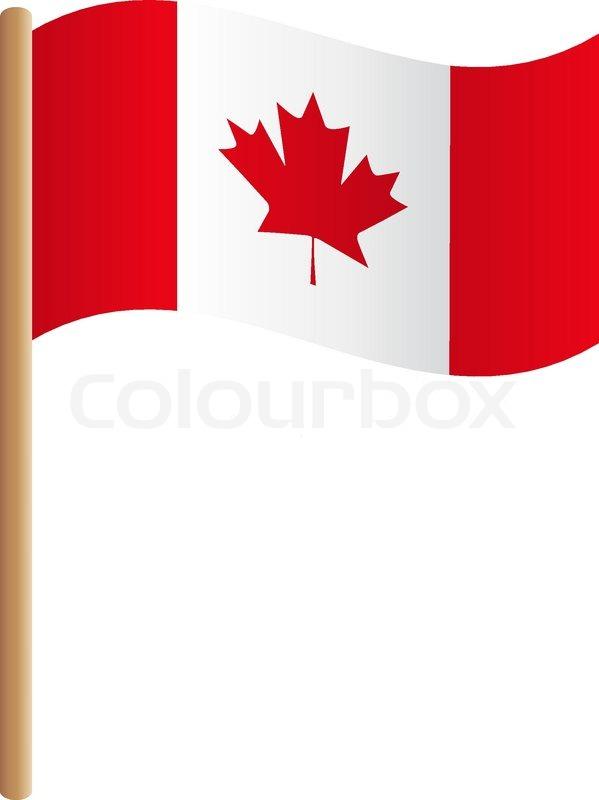 flag canada   stock vector   colourbox