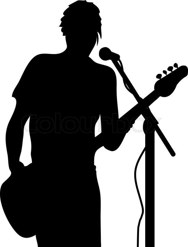 Vector Guitarist silhouette | Stock Vector | Colourbox