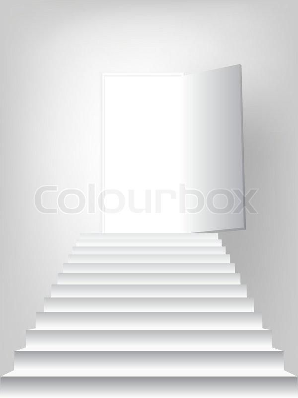 Open Door Icon Vector Staircase to Open Door Vector