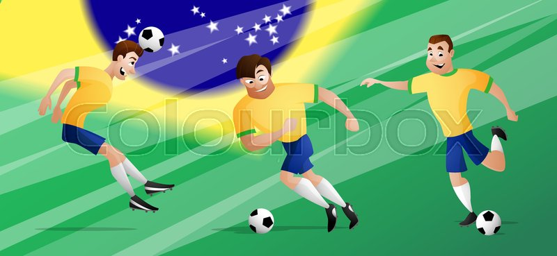 5b85eb3d1 The set of team Brazil Football or ...
