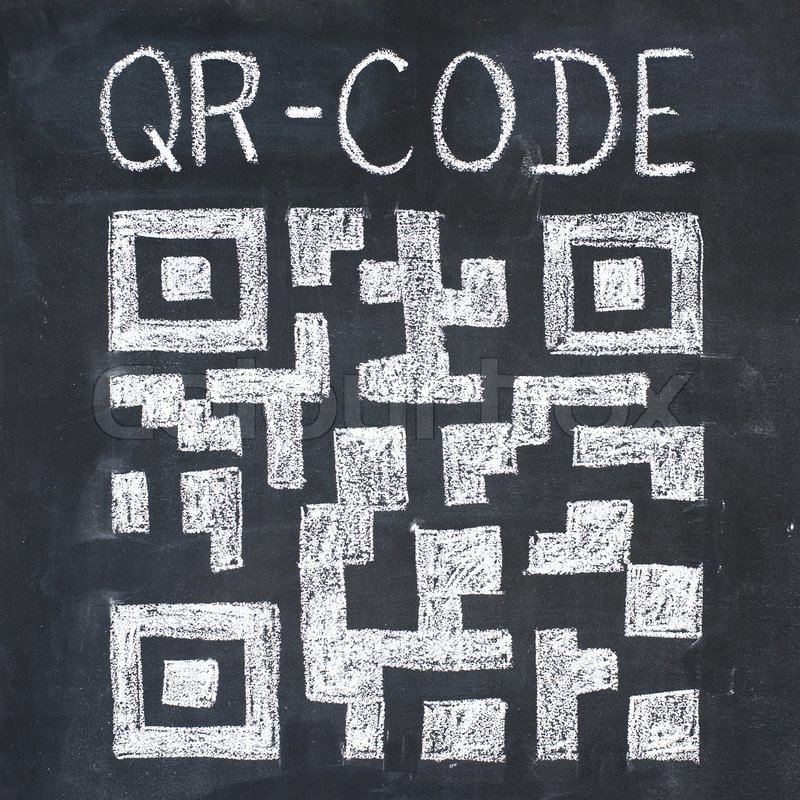 Qr Code Drawing Stock Photo Colourbox