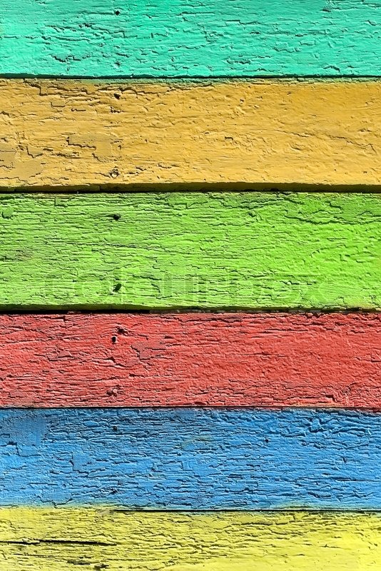 Vintage Board Colored Wood Background Stock Photo