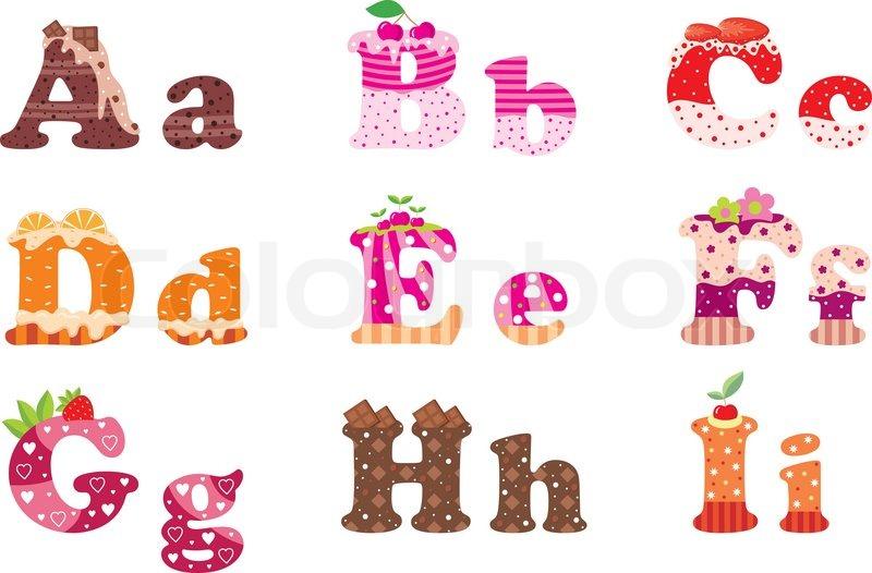 Dessert Topping  Letters