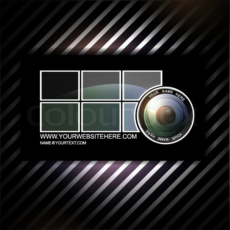Photographer business card template | Stock Vector | Colourbox