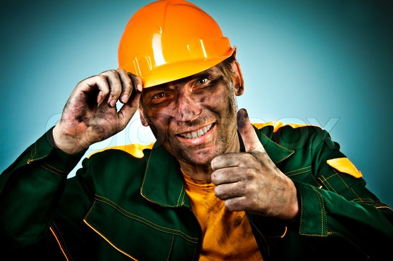 Portrait Oil Industry Worker Stock Photo Colourbox