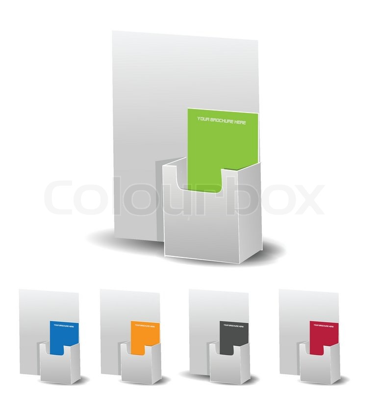 brochure holders pack stock vector colourbox - Paper Brochure Holder Template