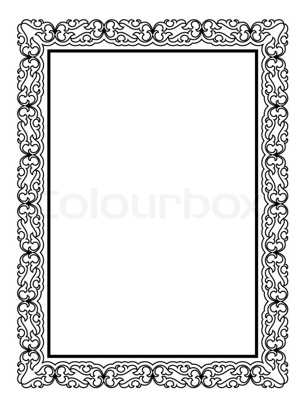 Simple black ornamental decorative frame | Stock Vector | Colourbox