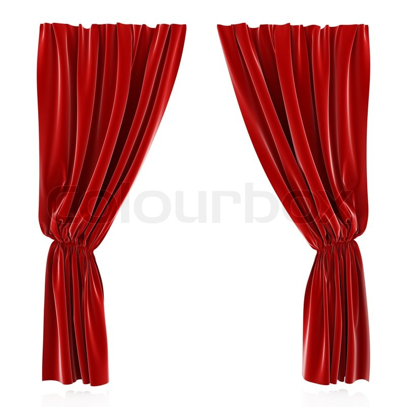 Red curtain | Stock Photo | Colourbox