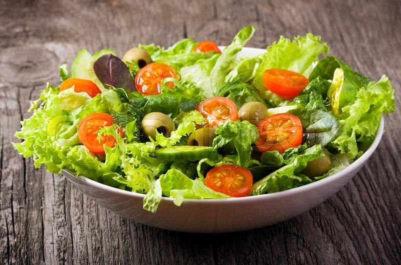 Диетические овощные салаты с фото